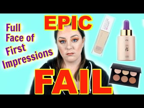 EPIC FAIL | Full Face of First Impressions | MakeupbyMegB