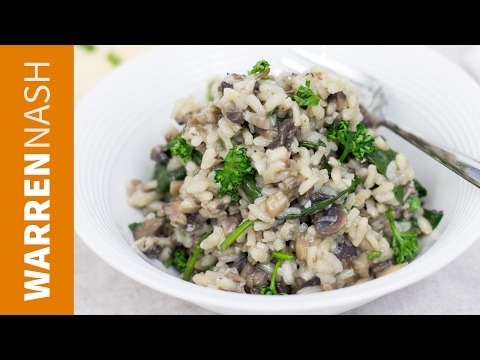 Mushroom Risotto Recipe - Vegetarian dish, full of flavour - Recipes by Warren Nash