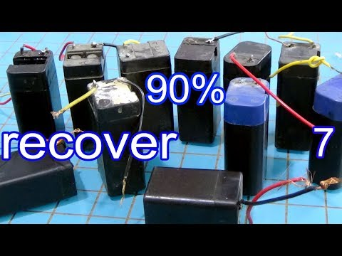 Restore battery 4v to 12v, how to bring a dead lead acid battery back to life  Make 6