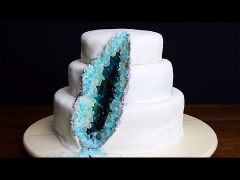 How To Decorate A Geode Cake