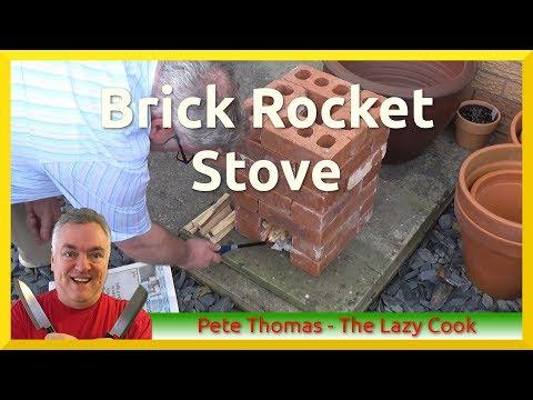 How I Built My Back Yard Brick Rocket Stove