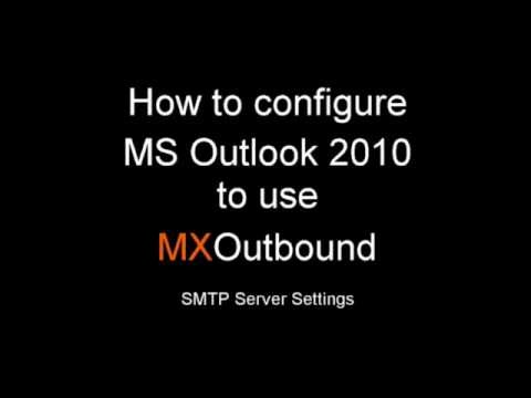 How to change the SMTP server settings in MS Outlook 2010 to use MXTools