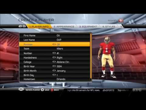 Madden NFL 15 - Customize | Create Player [HD]