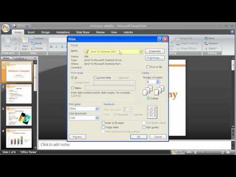 1.15 PowerPoint 2007: Print Slides & Handouts