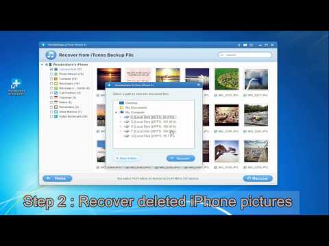 How to Restore Deleted Photos from iTunes