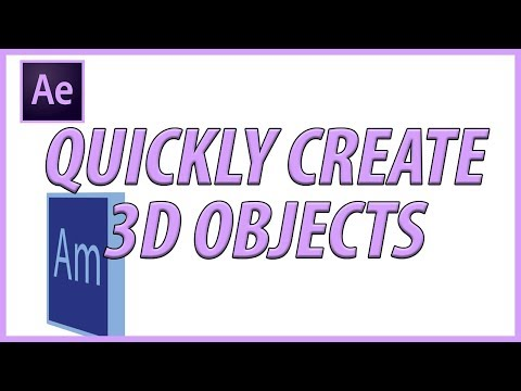 Quickly Create 3D Objects in Adobe After Effects using Ray Tracing
