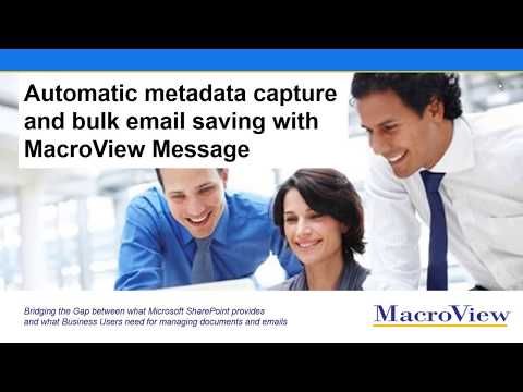 Saving Outlook Emails to SharePoint in Bulk with Automatic Metadata