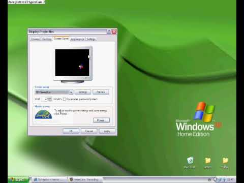 How To Add A ScreenSaver On Windows XP