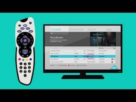 How to use the Planner on the new SKY | SKY TV