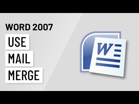 Word 2007: Using Mail Merge