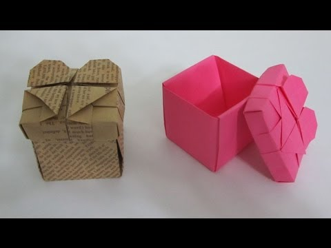 TUTORIAL - How to make an Origami Heart Box