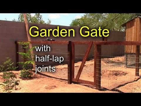 DIY Garden Gate with Half-Lap Joints