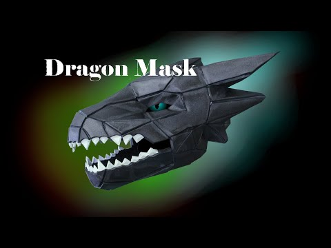 EVA Foam Dragon Mask: Wintercroft How To