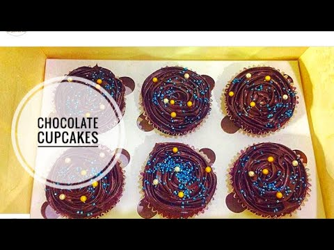 Easy & moist chocolate cupcakes recipe!! Details in description box below