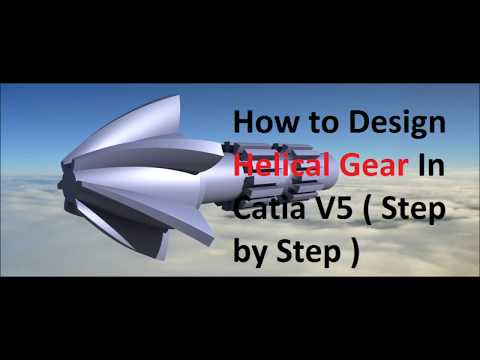 how to make helica gear tutorial in catia v5 | part design | helical gear for beginners