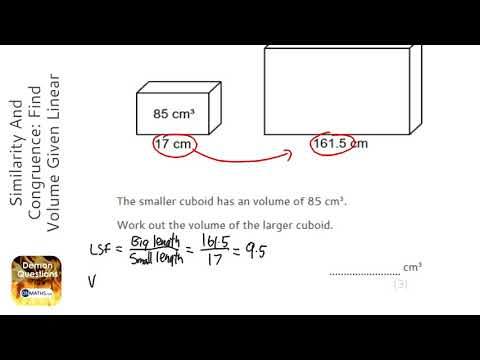 Similarity And Congruence: Find Volume Given Linear Scale Factor (Find Larger) (Grade 7) - Maths