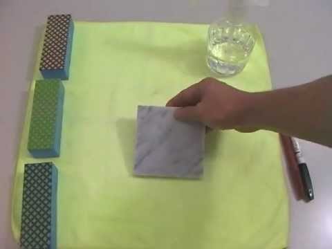 Marble ink stain removal process