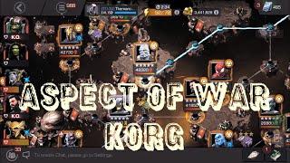 Aspect of War Korg vs Corvus Glaive (Variant 1, Ultron's Assault, Chapter 3.2)