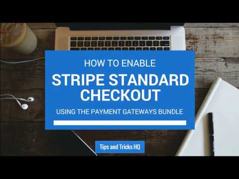How to Enable Standard Stripe Checkout Using the Payment Gateway Bundle