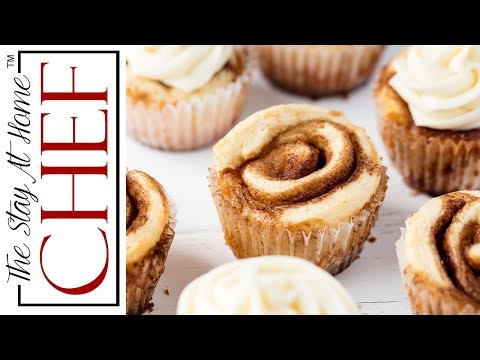 How to Make Cinnamon Roll Cupcakes | The Stay At Home Chef