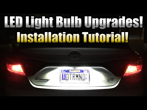 LED License Plate Bulb Upgrade - Installation Tutorial! (2015 Toyota Camry XSE Demo)
