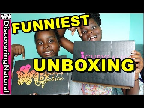 FUNNIEST KIDS UNBOXING feat. Black Butterfly Boxes