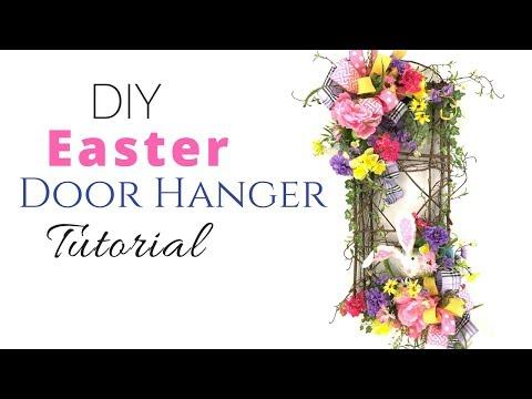 DIY Silk Flower Easter Door Hanger Tutorial