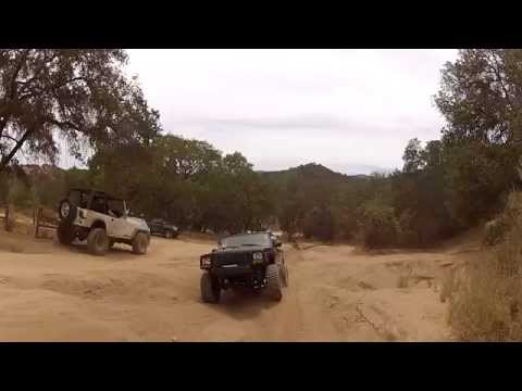 Jeep Cherokee at hollister hills SVRA Bump stop test