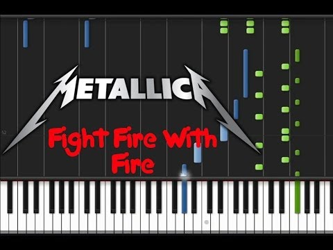 Metallica - Fight Fire With Fire (♫) (Instrumental + Synthesia)