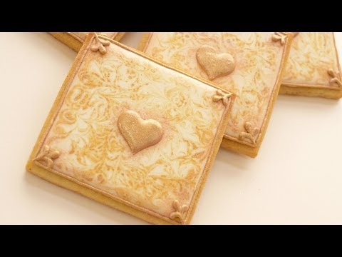 How To Make Gold Marbled Cookies - DIY Wedding Collaboration