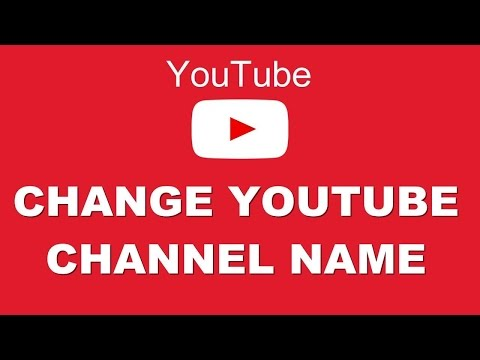 How To Change Your Youtube Channel Name Less Then One Minute