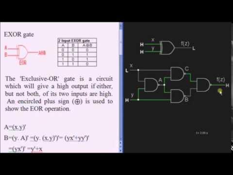 XOR Gate / Exclusive OR Tutorial - Basic Logic Gates