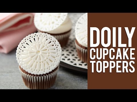 How to Make Fondant Doily Cupcake Toppers