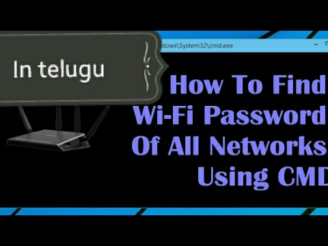 How to find WiFi passwords using CMD prompt  (in telugu)