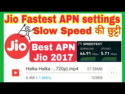 Jio 4G APN for faster Speed 2017 | How to increase Jio Speed 10 times