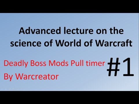 How to use a Deadly Boss Mod DBM Pull timer in world of warcraft