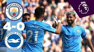 HIGHLIGHTS   Man City 4-0 Brighton   De Bruyne, Aguero (2), Bernardo Silva