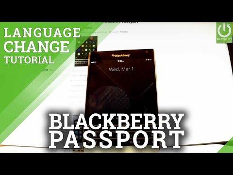 How to Change Language in BLACKBERRY Passport - Langauge Settings