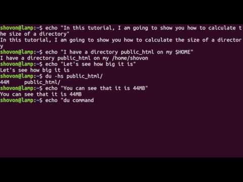 Linux Command Line - Calculate the Total Size of a Directory