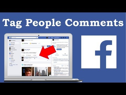 How To Tag People In Facebook Comments