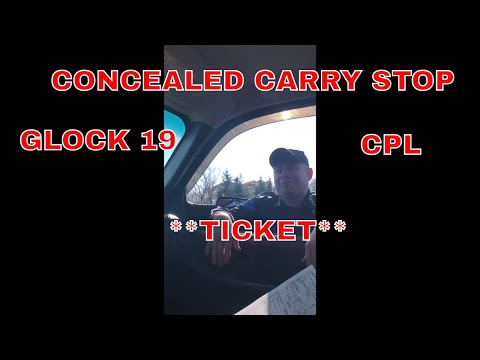 Concealed Carry! STOPPED By State Police!! **TICKET**