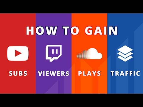 How to Get More Views, Subs, Followers and Traffic (on YouTube, Twitch, SoundCloud, and Website)