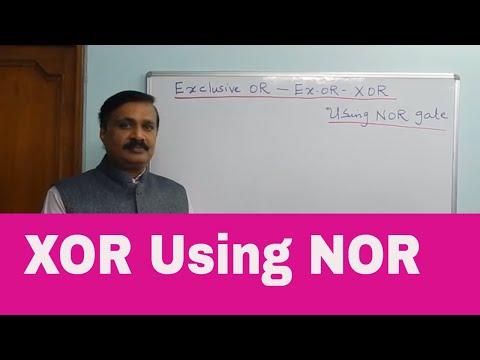Ex-OR gate(XOR) & Ex-NOR using NOR gate (English)