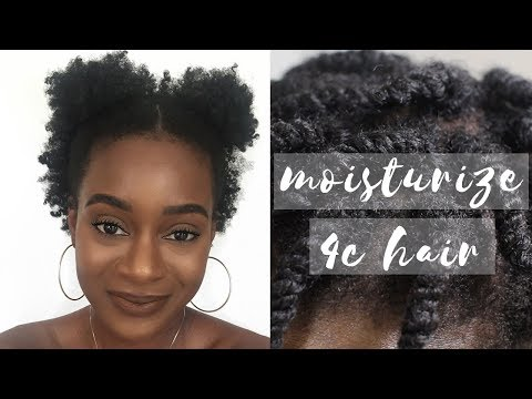 HOW TO MOISTURIZE DRY 4C NATURAL HAIR | LOC METHOD
