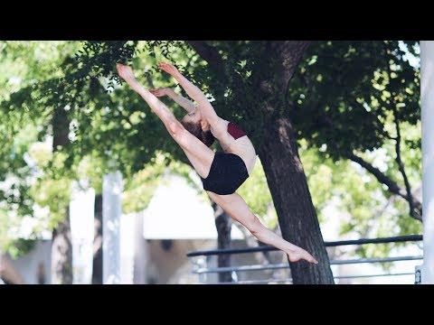 How to do an Arabesque Jump / Firebird Jump with Straight Legs