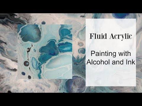 DIY Flow Acrylic paint using Alcohol and Inks