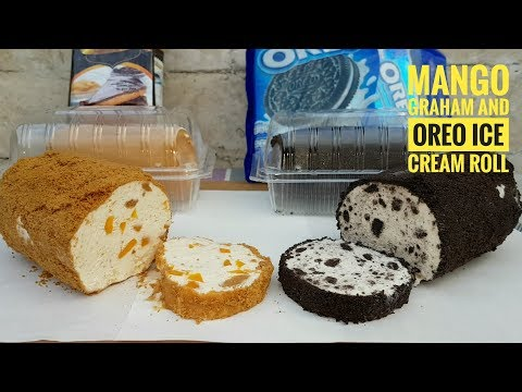 Mango Graham Ice cream Roll and Oreo Ice cream roll (Summer Idea)