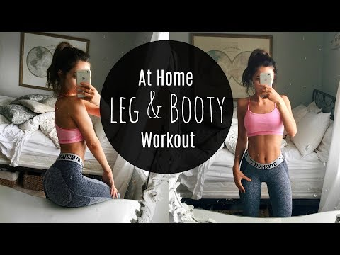 TONED BOOTY AND LEGS WORKOUT | At Home (NO EQUIPMENT)
