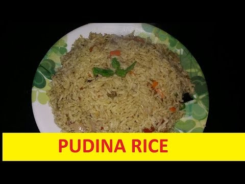 Pudina rice -Pudina bath -mint leaf rice - easy recipe in Kannada