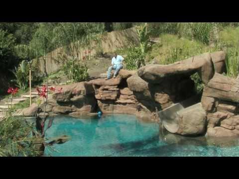 Tropical Backyard Pool & Spa Ideas